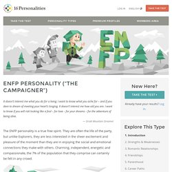 "ENFP Personality (""The Campaigner"")"