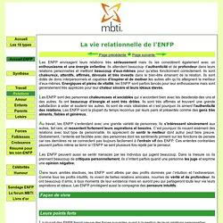 ENFP et relations