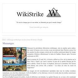 Libye : enfumage médiatique sur les scènes de liesse à Tripoli - wikistrike.over-blog.com