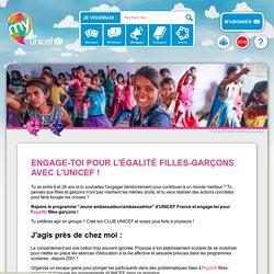Engage-toi pour l'égalité filles-garçons avec l'UNICEF !
