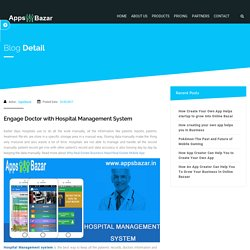 Engage Doctor with Hospital Management System