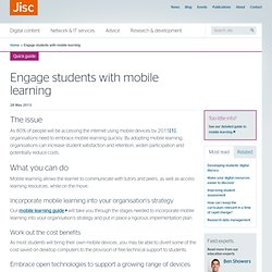 Engage students with mobile learning