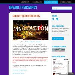 Genius Hour Resources