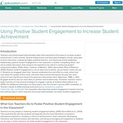Using Positive Student Engagement to Increase Student Achievement