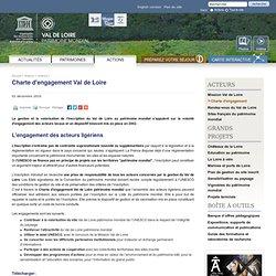 Charte d'engagement / Acteurs / Actions / Val de Loire patrimoine mondial de l'UNESCO - Val de Loire