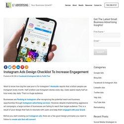 Instagram Ads Design Checklist to Increase Engagement