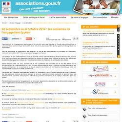 22 septembre au 8 octobre 2014 : les semaines de l'engagement lycéen - Associations.gouv.fr