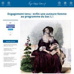 Engagement tenu : enfin une auteure femme au programme du bac L !