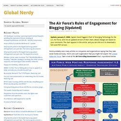 The Air Force's Rules of Engagement for Blogging [Updated]