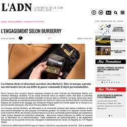L'engagement selon Burberry