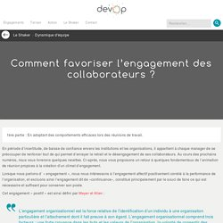 Comment favoriser l'engagement des collaborateurs ?