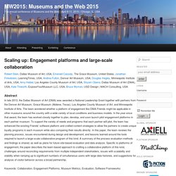 Scaling up: Engagement platforms and large-scale collaboration