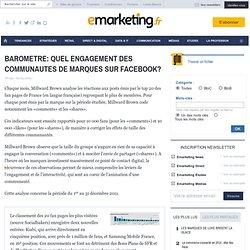 BAROMETRE: QUEL ENGAGEMENT DES COMMUNAUTES DE MARQUES SUR FACEBOOK? - FANOMETRE