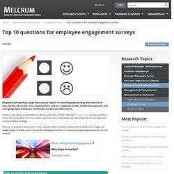 Top 10 questions for employee engagement surveys