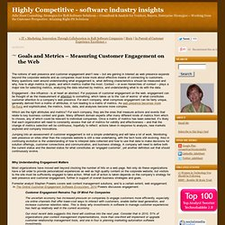 Goals and Metrics – Measuring Customer Engagement on the Web - Highly Competitive - software industry insights