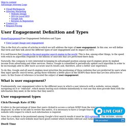 Types of user engagement and its impact on SEO.