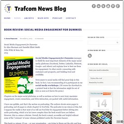 Book review: Social Media Engagement for Dummies » Trafcom News Blog