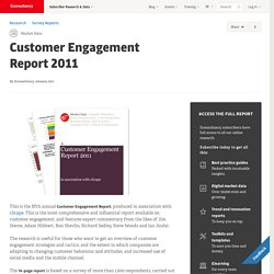 Customer Engagement Report 2010 | Survey Reports | Market Data |