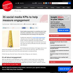 35 social media KPIs to help measure engagement | Blog | Econsul