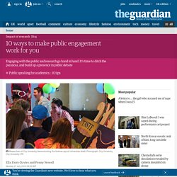 10 ways to make public engagement work for you