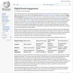 Digital brand engagement
