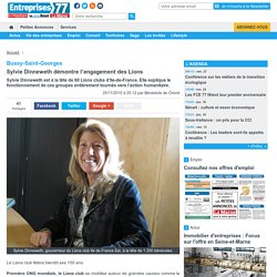 Bussy-Saint-Georges. Sylvie Dinneweth démontre l'engagement des Lions « Article « Entreprises 77