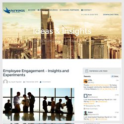 Employee Engagement - Insights and Experiments - Paywings 4.0