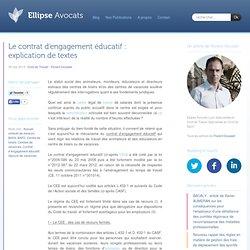 Le contrat d'engagement éducatif : explication de textes