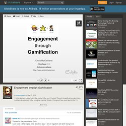 Engagement through Gamification