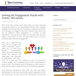 Ways to solve an engagement puzzle with teams