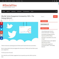 Why My Twitter Engagement Increased by 100% + The Strategy Behind It – #iSocialYou