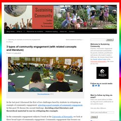 3 types of community engagement (with related concepts and literature)