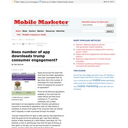 Does number of app downloads trump consumer engagement? - Mobile