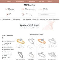 Unique Womens & Mens Engagement Rings Melbourne