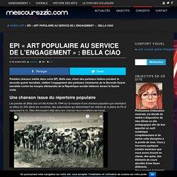 """EPI """"Art populaire au service de l'engagement"""" : Bella ciao"""