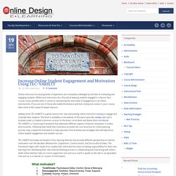 Online Design & eLearning Faculty Resources » Increase Online Student Engagement and Motivation Using TEC-VARIETY