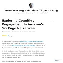 Exploring Cognitive Engagement in Amazon's Six Page Narratives – use-cases.org – Matthew Tippett's Blog
