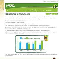 NESTLE - Zoom sur nos Engagements nutritionnels (MAGGI ; DAVIGEL ; HERTA)