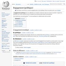 Engagement (politique)