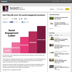 Can't Buy Me Love: the social engagement protocol