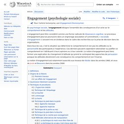 Engagement (psychologie sociale)