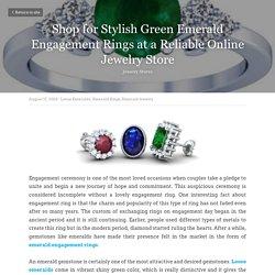 Shop for Stylish Green Emerald Engagement Rings at a Reliable Online Jewelry Store