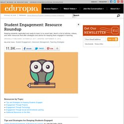 Student Engagement: Resource Roundup