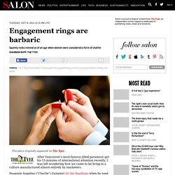 Engagement rings are barbaric