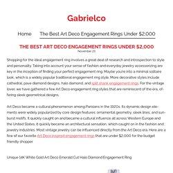 The best art deco engagement rings under $2000