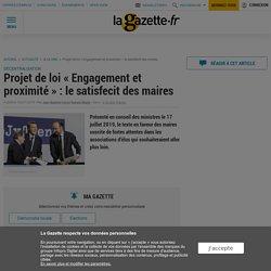 """Projet de loi """"Engagement et proximité"""" : le satisfecit des maires"""