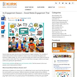 Its Engagement Season – Social Media Engagement That Is!