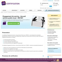 Engagement de Service : Accueil Service Public local