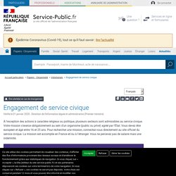 Engagement de service civique
