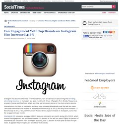 Fan Engagement With Top Brands on Instagram Has Increased 416%